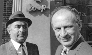 Phil and Leonard Chess stand outside their Chess Records headquarters in Chicago.