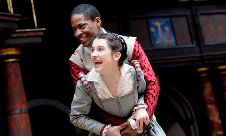 Adetomiwa Edun and Ellie Kendrick in Romeo and Juliet in 2009.