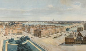 Detail of Pierre Prévost's panoramic view of London