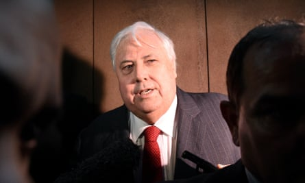 Clive Palmer leaves the federal court in Brisbane on Friday.