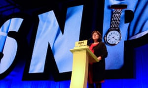 Jeane Freeman addressing the SNP conference