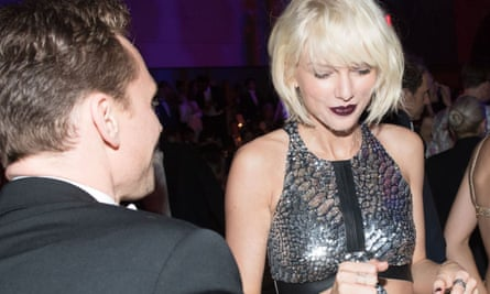 Tom Hiddleston and Taylor Swift at the Met gala in New York on 2 May 2016.