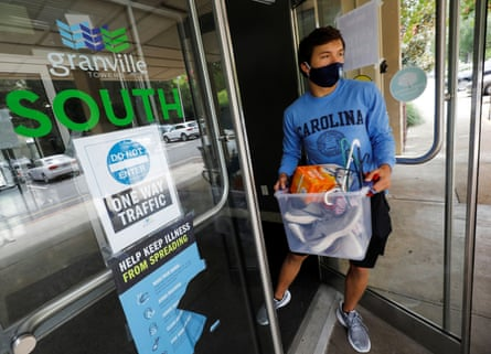 After a coronavirus outbreak in August, University of North Carolina students were required to vacate student housing.