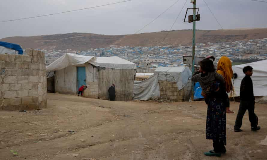 The Atmeh camp on Syria's Turkish border,