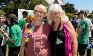 Janet Rice with her partner Penny