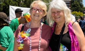 Victorian Greens senator Janet Rice with her wife, Penny
