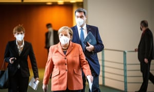 Presser after German Chancellor Merkel's video conference with German State Premiers about Corona measures in Berlin.
