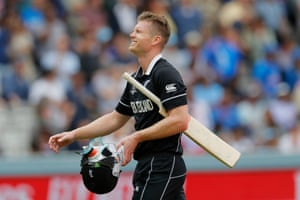 Jimmy Neesham of New Zealand was the fifth wicket to fall, caught by Joe Root off Plunkett's bowling for 19 runs. New Zealand ended their 50 overs with a gettable total of 240-8