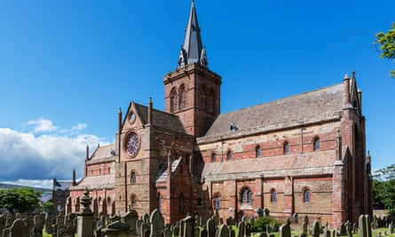 St Magnus Cathedral, Kirkwall, where the crews of Scandinavian trading ships hung their sails out to dry.