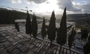 Givat Shaul cemetery in Jerusalem, Israel.