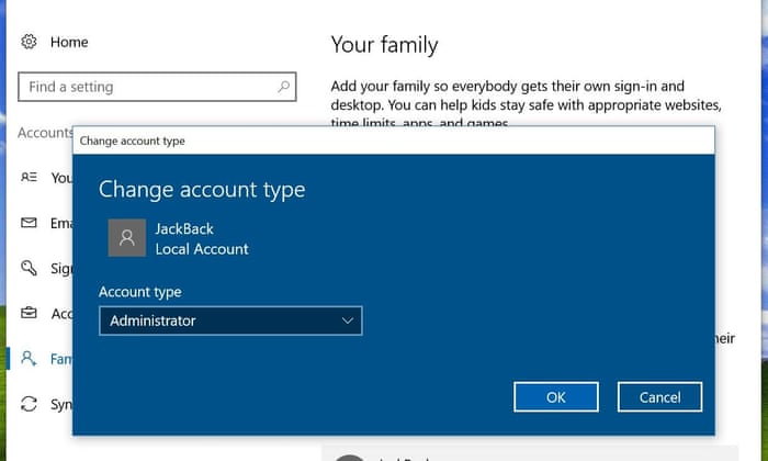 how can i use a local account in windows 10 technology the guardian - Account Technology