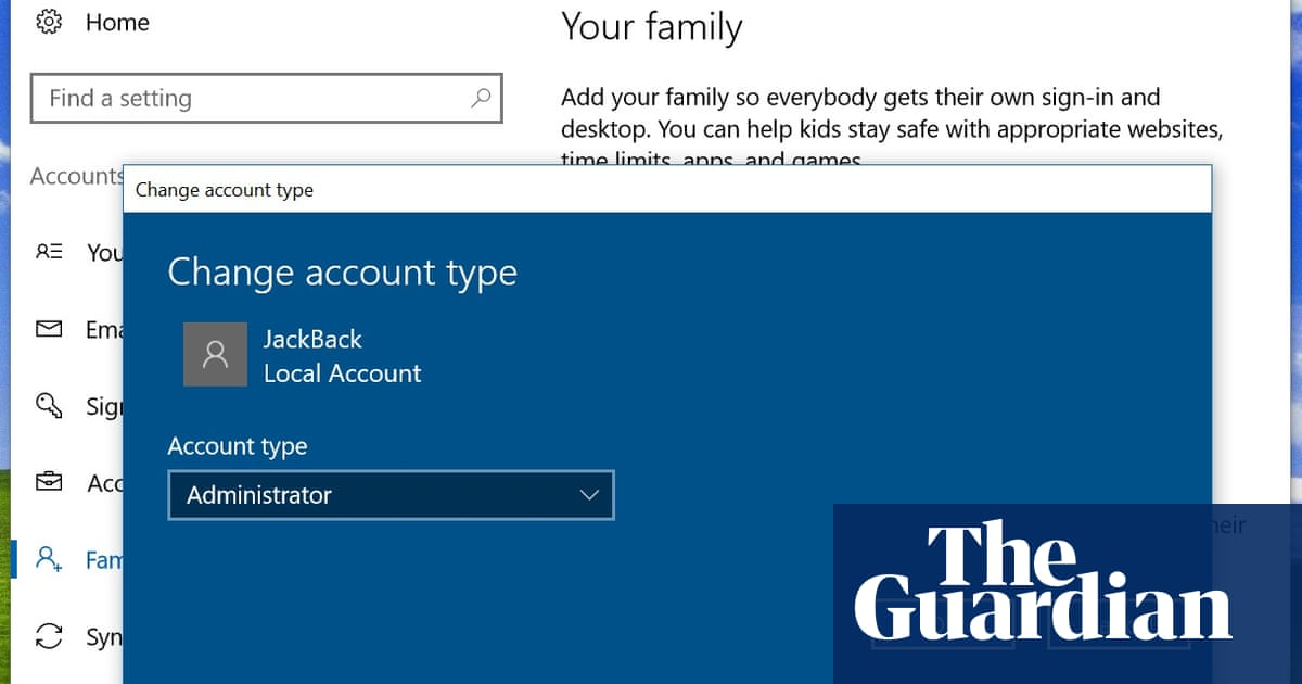 How can I use a local account in Windows 10? | Technology | The Guardian
