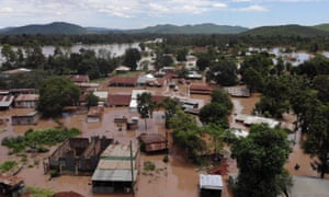 A submerged village in Siaya county, Kenya, after weeks of heavy rain.
