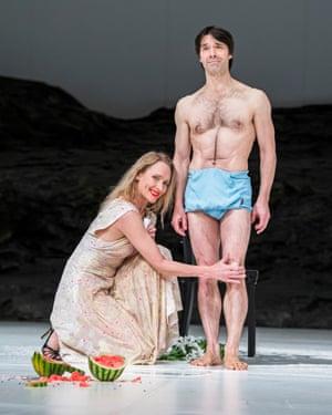 Julie Shanahan and Rainer Behr in Masurca Fogo by Tanztheater Wuppertal Pina Bausch at Sadler's Wells, London