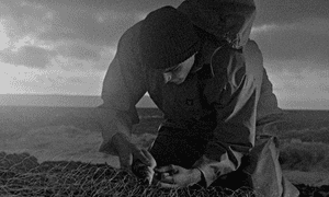 Mark Jenkin's film Bait is shot in black and white.