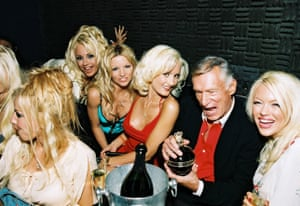 Hefner at the opening night of The Pussycat Dolls, a burlesque cabaret act