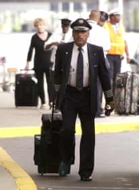 The wheel thing … a pilot at Philadelphia International Airport in 2004.