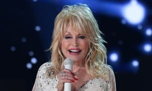 Dolly Parton performing at the 2019 Grammy awards.
