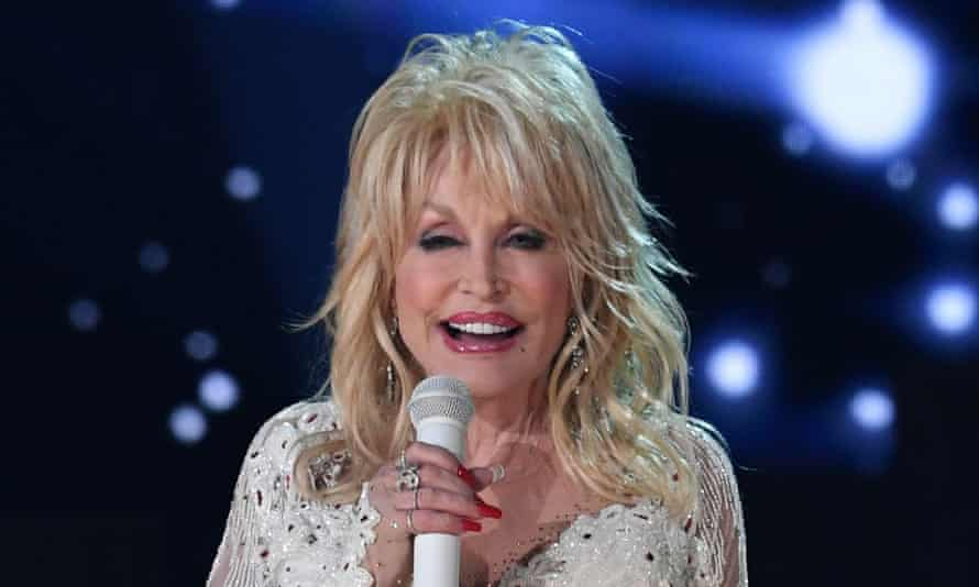 Dolly Parton performing at the 2019 Grammy awards.