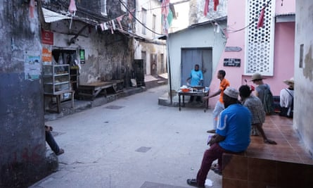 Men socialising in Zanzibar's Stone Town