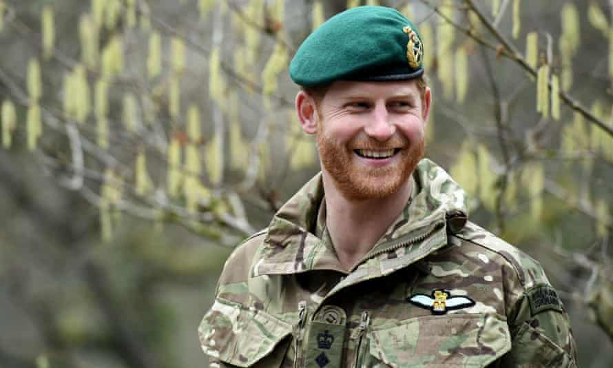 Prince Harry during a visit to 42 Commando Royal Marines in 2019.