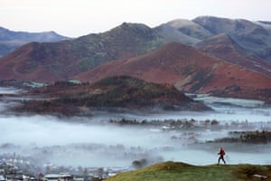 Keswick, England Mist caused by a temperature inversion lies over Keswick in the Lake District after temperatures dipped to -2C