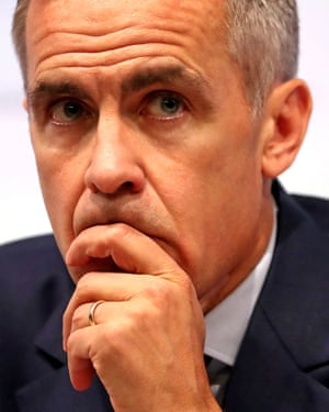 Mark Carney, governor of the Bank of England, has warned that the risk of a no-deal Brexit was 'uncomfortably high'.