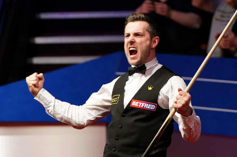 Mark Selby savours the winning moment.