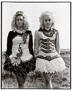 Meaghan and LeanneThe glamour of modern female Irish dancers taken out of the glitzy ballrooms and into the fields