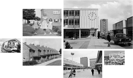 Norman Tebbit (left) and the new towns of Harlow and Basildon in the 1950s and 60s.