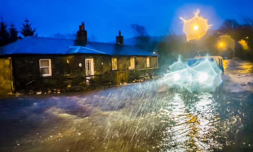 Flooding in Straiton, Scotland, in December