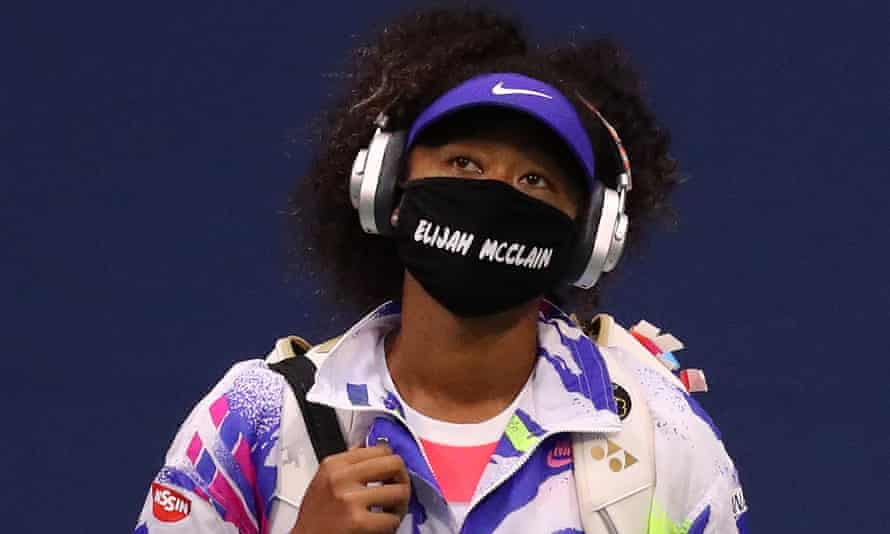 Naomi Osaka … making the face mask political.