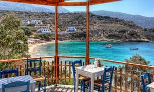 A taverna in Karpathos, Greece.