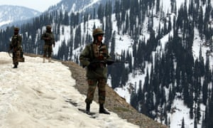 Indian army soldiers stand guard in Kashmir. The disputed territory will be included in renewed talks between Indian and Pakistani leaders.