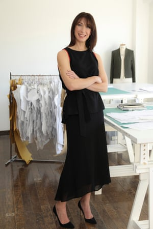 Samantha Cameron in a top and skirt from her label, Cefinn.