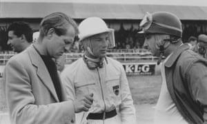 1956年7月,彼得·科林斯离开,斯特林·莫斯,中锋,以及阿根廷人胡安·曼努埃尔·方吉奥参加英国银石赛道大奖赛。