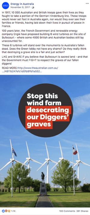 An Energy in Australia post.