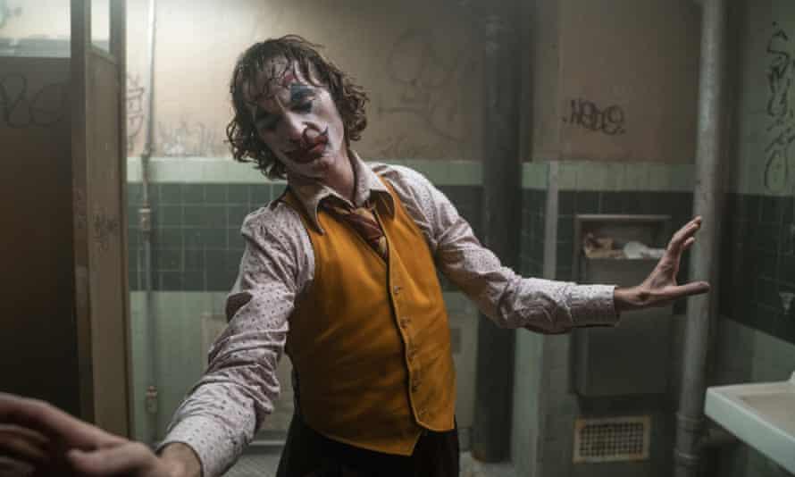Oppressively bleak origin story ... Joaquin Phoenix in Joker.