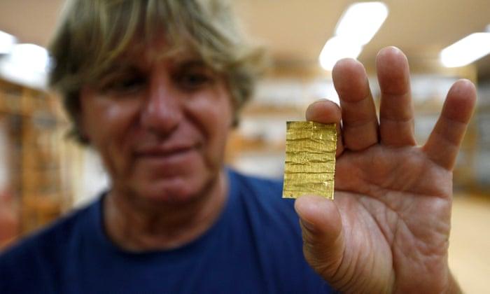 ميومر كوراك، رئيس فريق الآثار في الموقع: الحروف الأبجدية إغريقية هذا ما نعلمه فقط واللغة آرامية - إنه لغز شرق أوسطي بالنسبة لناDjordje Kojadinovic/Reuters