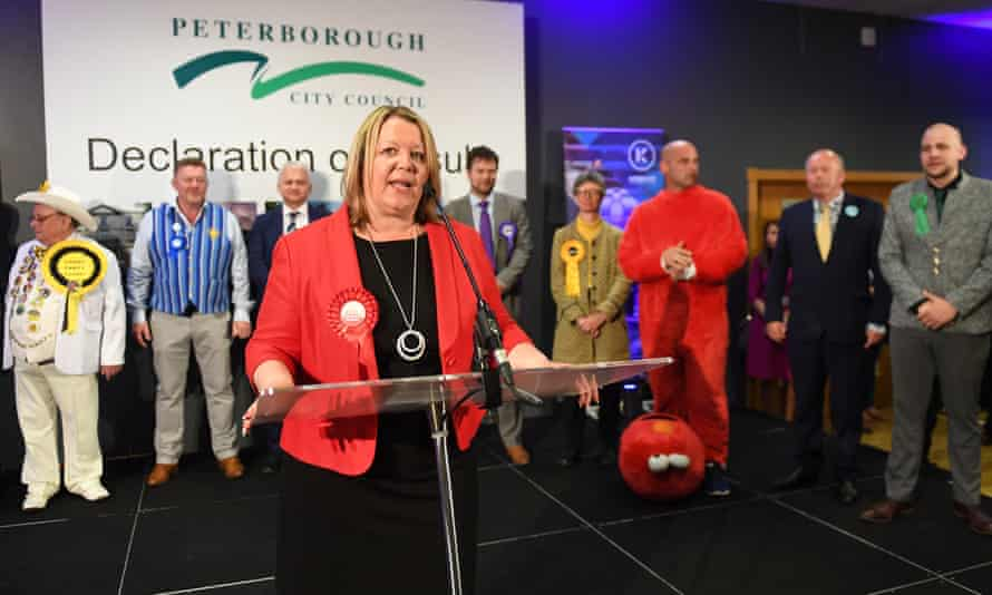 Newly elected Labour MP Lisa Forbes gives her winner's speech after the count