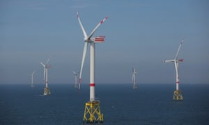 RWE's wind turbines in the North Sea.