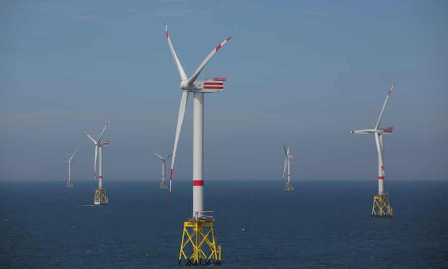 RWE's wind turbines in the North Sea.