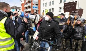 Several thousand critics and so-called 'Querdenker' from all over Germany were expected to take part in the protest organised by the group 'Freie Buerger Kassel'.