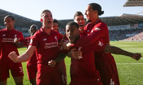 Liverpool back at top after Georginio Wijnaldum inspires win at Cardiff