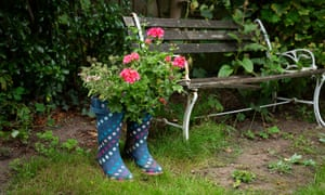 Wellington boots belonging to Celia, a keen gardener, who died at home in Worcestershire of pancreatic cancer a fortnight after lockdown began. The Observer reported how the Marie Curie charity is seeking more government help for families struggling with terminally-ill relatives during the pandemic.
