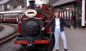Eileen Clayton at Porthmadog station on the Ffestiniog railway, north Wales