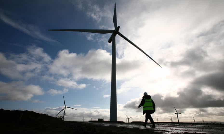 Whitelees windfarm on Eaglesham Moor in East Renfrewshire.