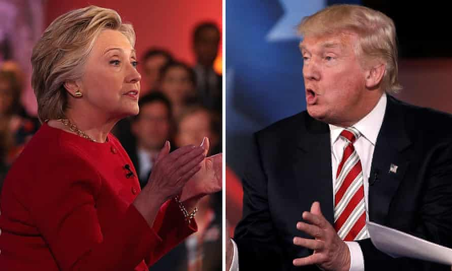 Hillary Clinton and Donald Trump at the NBC News commander-in-chief forum.