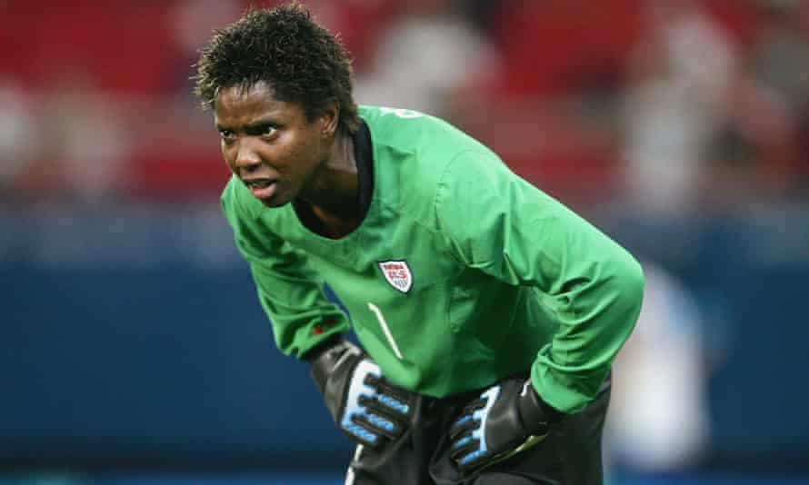 Briana Scurry was a reassuring presence at the back for USA