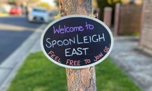 A Spoonville-inspired sign